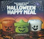 """<p>The only thing scary about these Halloween buckets is that they go for <a href=""""https://www.ebay.com/itm/McDonalds-Halloween-Buckets-Lot-Of-4-Pails-1986-3-And-1991-1/392136444725?hash=item5b4d274b35:g:oZ4AAOSwQ3tbtWRM"""" rel=""""nofollow noopener"""" target=""""_blank"""" data-ylk=""""slk:$80 a collection"""" class=""""link rapid-noclick-resp"""">$80 a collection </a>and I didn't freakin' keep mine.</p>"""
