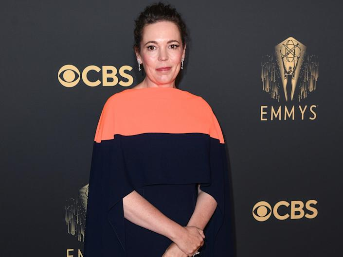 Olivia Colman at the 73rd Primetime Emmys at Soho House in London, England (Gareth Cattermole/Getty Images)