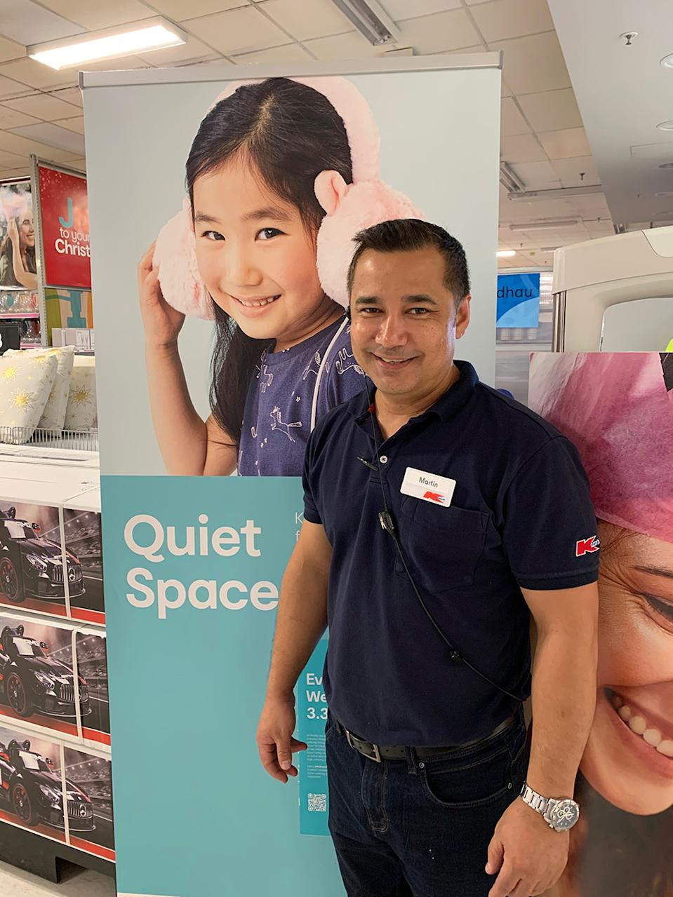 From this week, every Wednesday from 3:30pm to 5:30pm, select Kmart stores will provide a low-sensory shopping experience for customers with reduced noise, lighting and distractions. Photo: Supplied