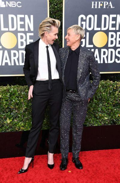 PHOTO: Portia de Rossi and Ellen DeGeneres attend the 77th Annual Golden Globe Awards at The Beverly Hilton Hotel on Jan. 05, 2020, in Beverly Hills, Calif. (Jon Kopaloff/Getty Images)