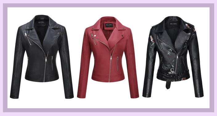Amazon's top rated faux leather jacket has over 4,600 customer reviews (Image via Amazon)