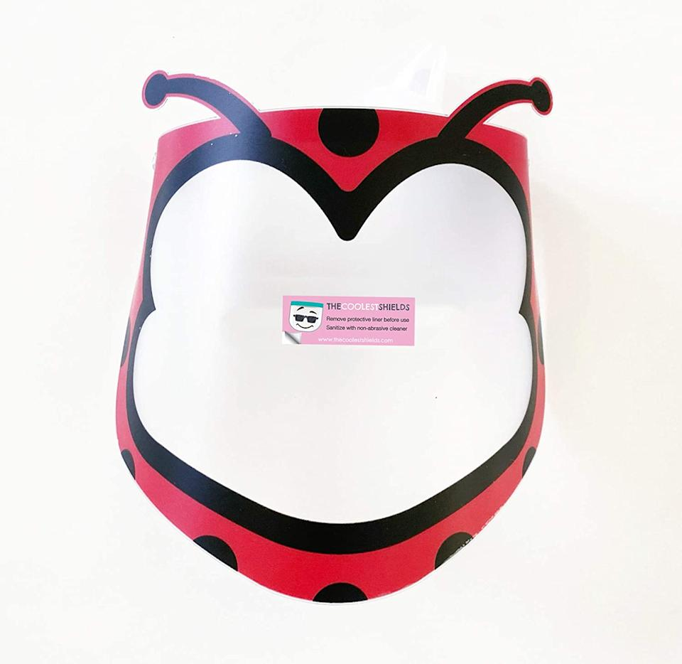 Kiddos will love these face shields shaped like animals and cartoon characters. (Photo: Amazon)