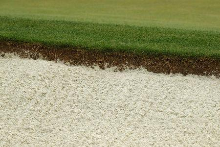 Grass grows by a sand bunker on the 7th green at Augusta National Golf Club in Augusta, Georgia, U.S. April 5, 2017. REUTERS/Jonathan Ernst