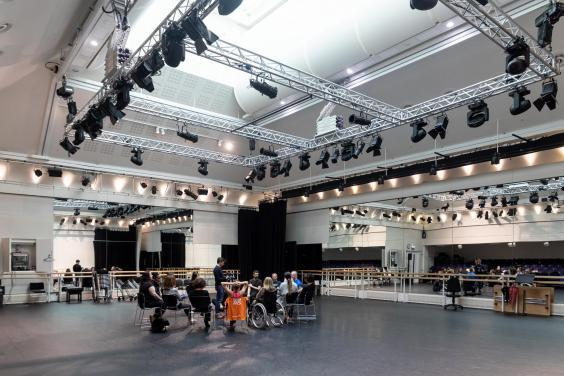 Royal Ballet and MS Society ballet workshop at Royal Opera House (Lara Cappelli)