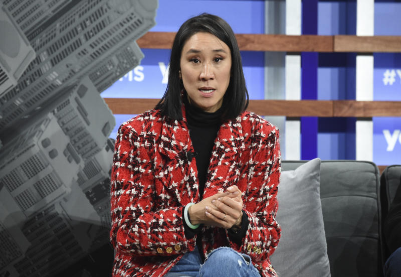Instagram director of fashion partnerships Eva Chen participates in the Yahoo Finance All Markets Summit at Union West on Thursday, Oct. 10, 2019, in New York. (Photo by Evan Agostini/Invision/AP)
