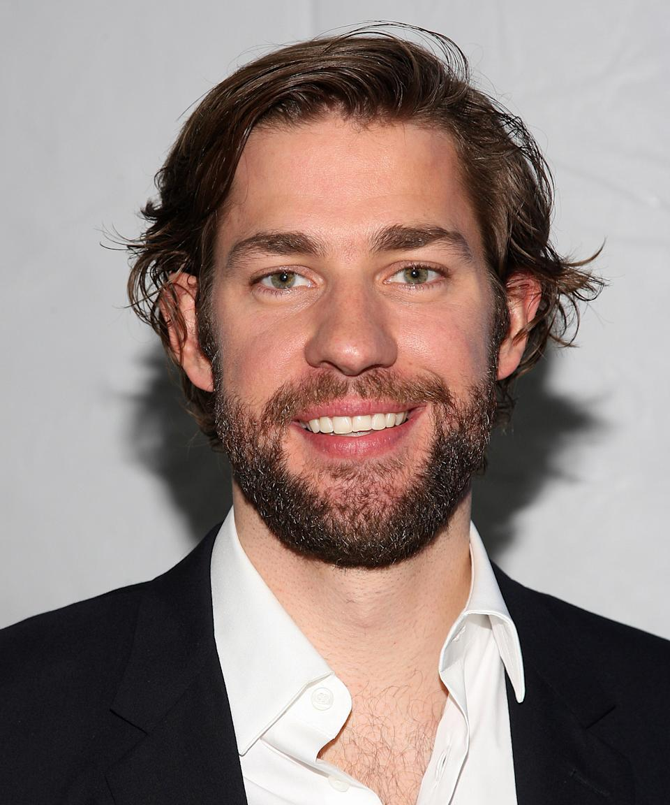 """<strong><h2>2008</h2></strong> Even though the strongest reaction to Krasinski's beard doesn't come for several more years, this marks the first time the actor tested out the look. <span class=""""copyright"""">Photo: Jason Kempin/WireImage.</span>"""