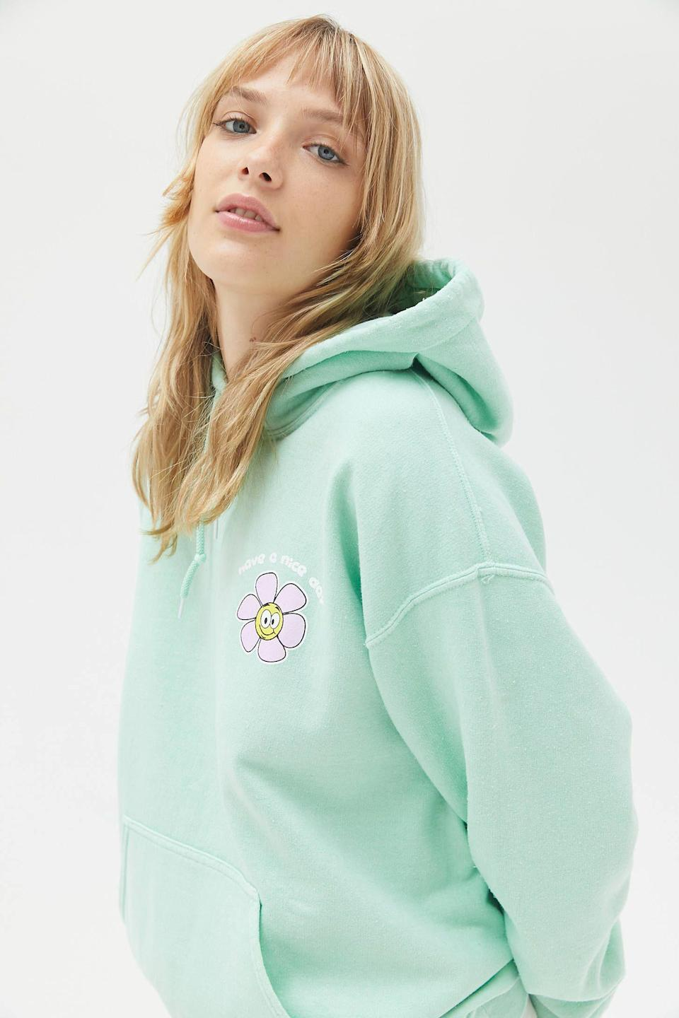 "<p><strong>Urban Outfitters</strong></p><p>urbanoutfitters.com</p><p><strong>$39.99</strong></p><p><a href=""https://go.redirectingat.com?id=74968X1596630&url=https%3A%2F%2Fwww.urbanoutfitters.com%2Fshop%2Fhave-a-nice-day-daisy-hoodie-sweatshirt&sref=https%3A%2F%2Fwww.seventeen.com%2Ffashion%2Fg34701248%2Furban-outfitters-2020-black-friday-sale%2F"" rel=""nofollow noopener"" target=""_blank"" data-ylk=""slk:Shop Now"" class=""link rapid-noclick-resp"">Shop Now</a></p><p>This hoodie just boosted my mood and cleared my breakouts.</p>"