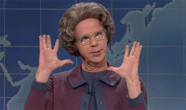 Dana Carvey returning to <i>SNL</i> for a cameo as the Church Lady in 2016. (Photo: NBC Universal)
