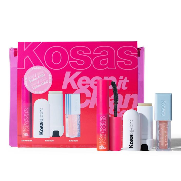 """<br><br><strong>Kosas</strong> Keep It Clean Set, $, available at <a href=""""https://go.skimresources.com/?id=30283X879131&url=https%3A%2F%2Ffave.co%2F3jstnro"""" rel=""""nofollow noopener"""" target=""""_blank"""" data-ylk=""""slk:Sephora"""" class=""""link rapid-noclick-resp"""">Sephora</a>"""