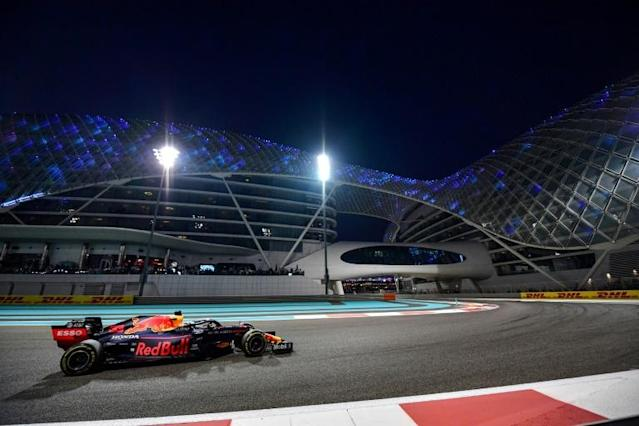 Looking forward: Red Bull's Max Verstappen on his way to second place on Sunday (AFP Photo/Giuseppe CACACE)
