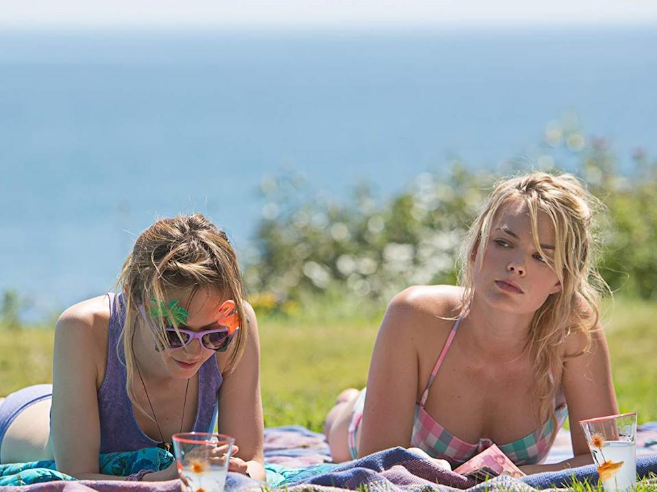"""Lydia Wilson and Margot Robbie in """"About Time."""""""