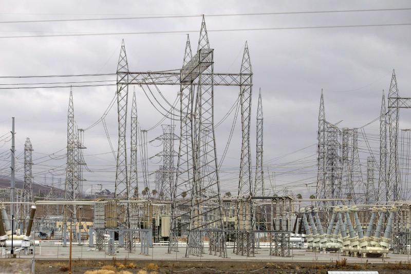 View of Pacific Gas and Electric Company Metcalf Power Substation near San Jose