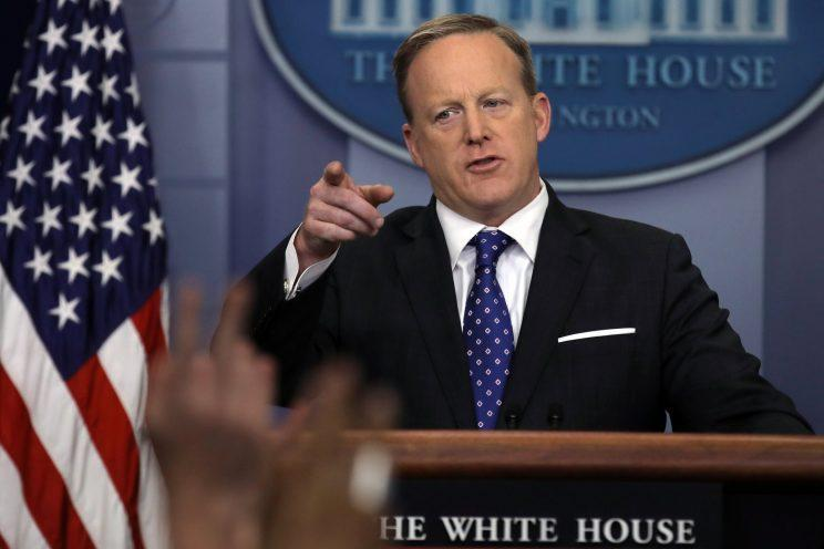 White House spokesman Sean Spicer. (Photo: Carlos Barria/Reuters)