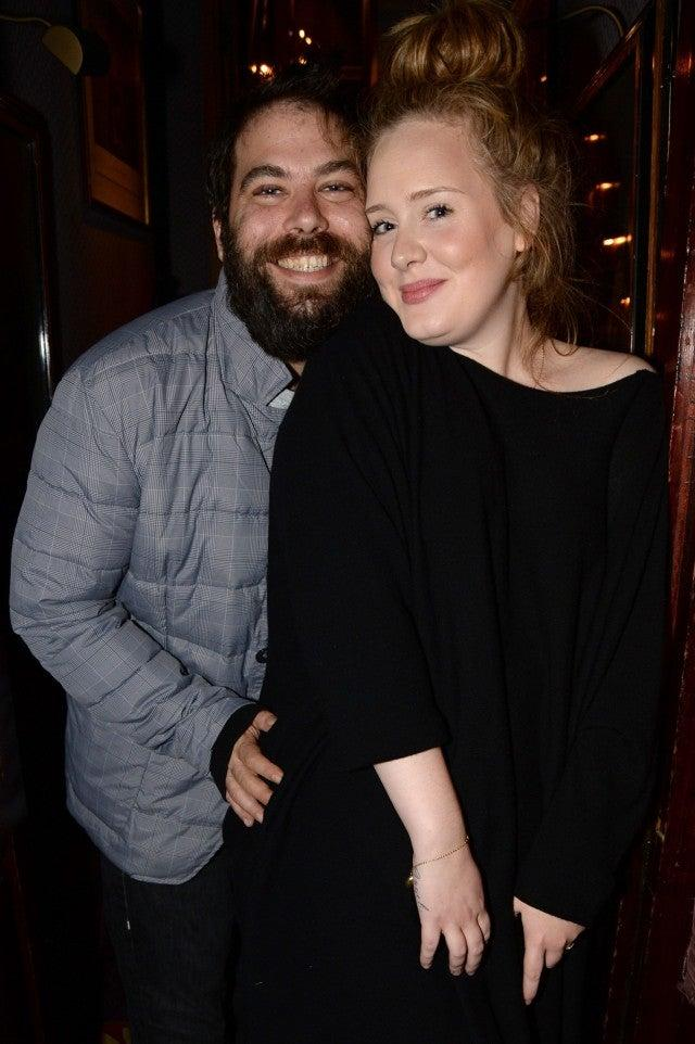Adele and husband in 2013