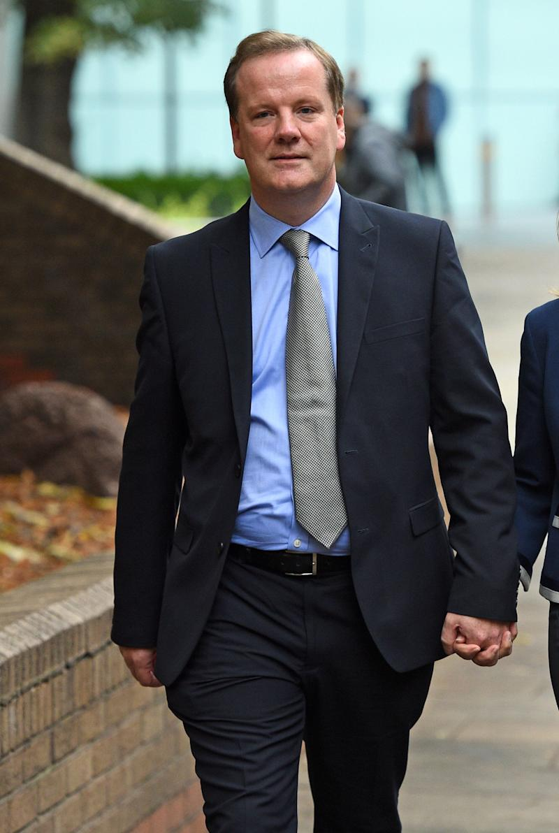 Conservative MP for Dover Charlie Elphicke, with his wife Natalie Ross, leaving Southwark Crown Court in London where he appeared for a pre-trial hearing after entering not guilty pleas to three charges of sexual assault. (Photo: PA Wire/PA Images)