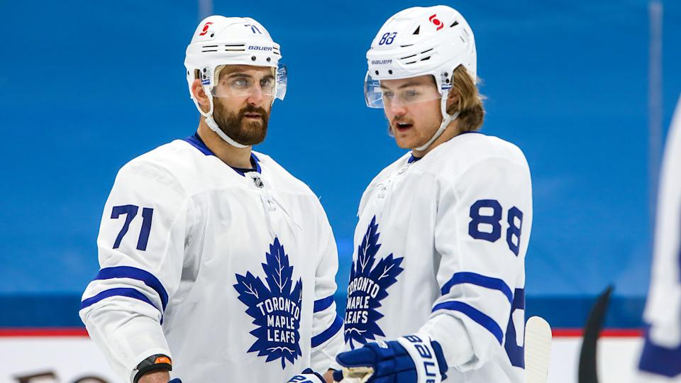 John Tavares' injury has left a major void down the middle of the Maple Leafs lineup.  (Photo by Jonathan Kozub/NHLI via Getty Images)