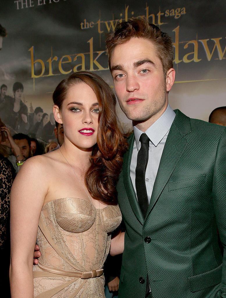 "<p>During their five-movie run as human/vampire lovers, Stewart and Pattinson were rumoured to be dating in real life. While they never officially confirmed the relationship, the pair abruptly split in 2012 after photos of Stewart's affair with ""Snow White and the Huntsman"" director, Rupert Sanders, surfaced. <i>(Christopher Polk/Getty Images)</i></p>"