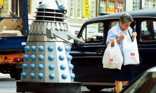 It's difficult for a Dalek in Robin Hood's Bay