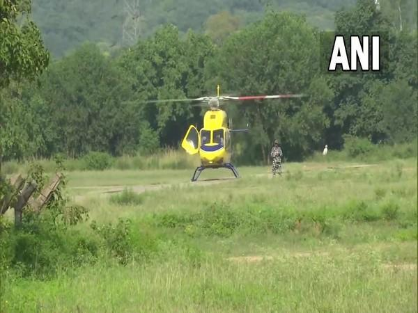 Punjab Chief Minister Charanjit Singh Channi boarded helicopter (Photo/ANI)