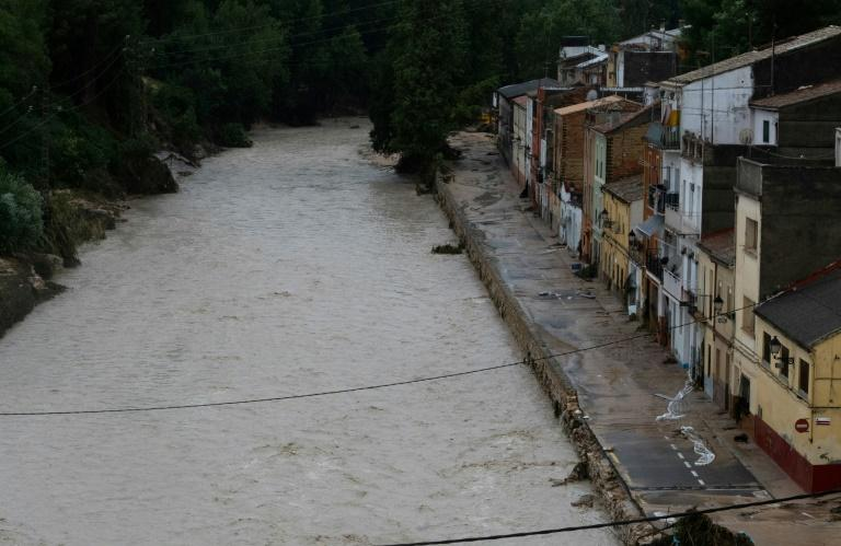 The Clariano river burst its banks, flooding the town of Ontinyent, which suffered its heaviest rainfall since records began