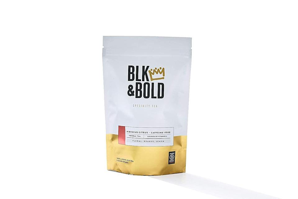 """<p><strong>BLK & Bold</strong></p><p>amazon.com</p><p><strong>$25.00</strong></p><p><a href=""""https://www.amazon.com/dp/B07VB1B3JW?tag=syn-yahoo-20&ascsubtag=%5Bartid%7C10057.g.1969%5Bsrc%7Cyahoo-us"""" rel=""""nofollow noopener"""" target=""""_blank"""" data-ylk=""""slk:BUY NOW"""" class=""""link rapid-noclick-resp"""">BUY NOW</a></p><p>If she's a big tea drinker, treat her to a new blend she'll love, like this hibiscus citrus herbal tea that features floral notes and hints of orange and lemon. </p>"""