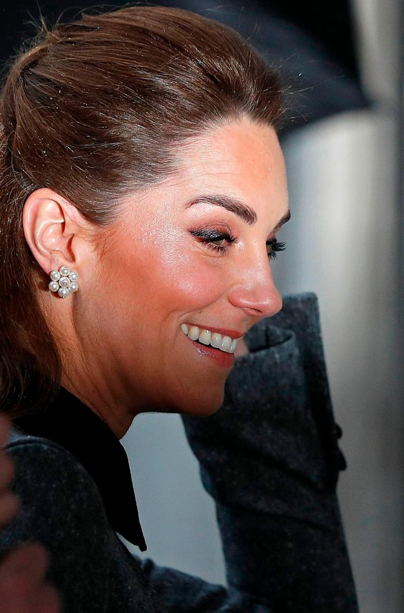 Catherine, Duchess of Cambridge reacts as she arrives to attend the UK Holocaust Memorial Day Commemorative Ceremony at Methodist Central Hall in London on January 27, 2020 (AFP via Getty Images)