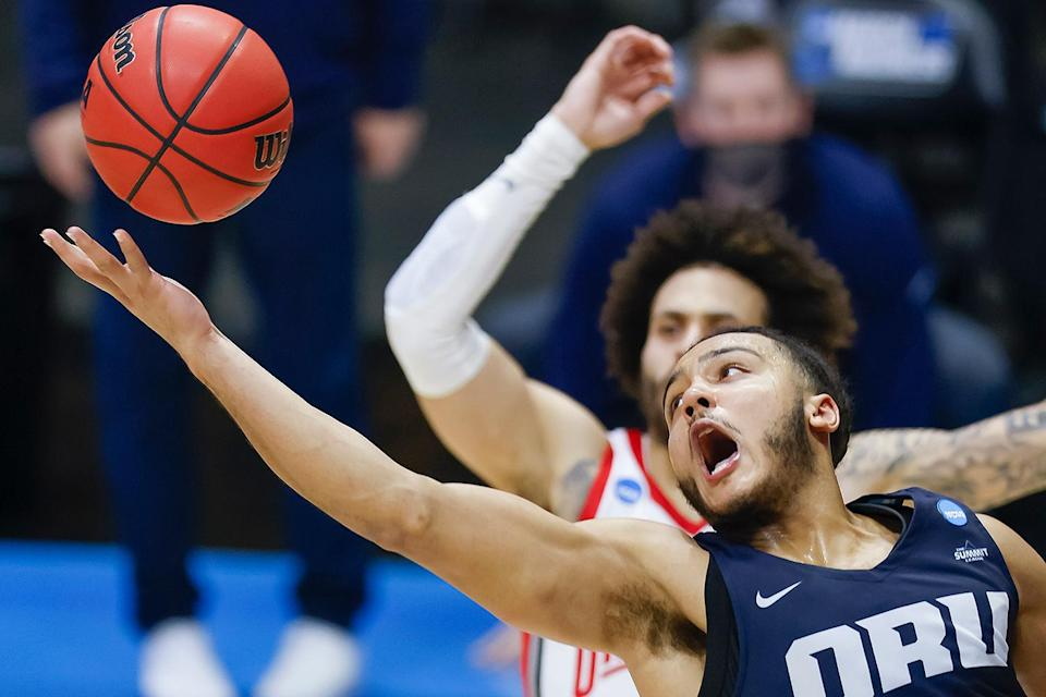 <p>Oral Roberts University beat the Ohio State Buckeyes in the first found of the tournament, defeating them 75-72 in overtime. </p> <p>The Golden Eagles came into the tourney as the 15th seed and weren't expected to move past the No. 2 seed Buckeyes, but this upset wasn't the only one the school has delivered in the tournament thus far.</p>