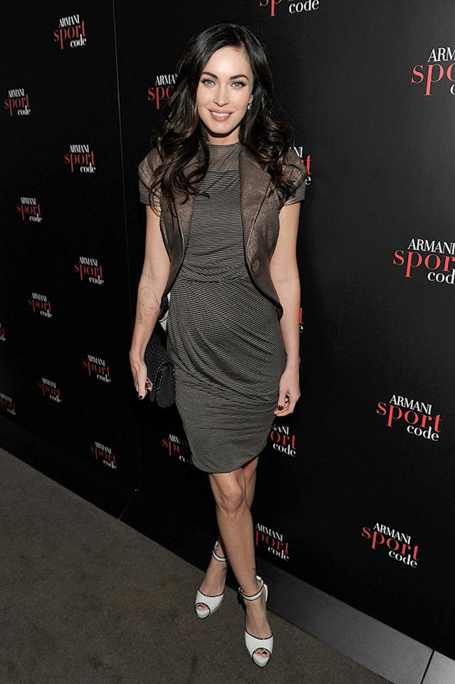 Megan Fox attends Armani Code Sport Fragrance launch at Mondrian Soho on April 20, 2011 in New York City.