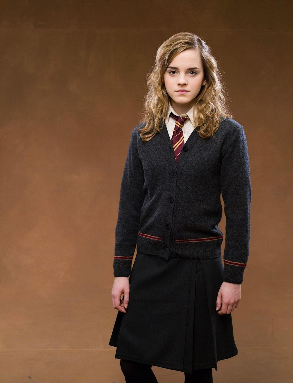 """<p>When you think witch, you have to think of Hermione Granger. To imitate the clever character, you can buy a Hogwarts uniform online, or you can piece one together on your own.</p><p><a class=""""link rapid-noclick-resp"""" href=""""https://www.amazon.com/Toddler-Little-Pleated-School-Uniform/dp/B07DNM2FTL/?tag=syn-yahoo-20&ascsubtag=%5Bartid%7C2164.g.37050429%5Bsrc%7Cyahoo-us"""" rel=""""nofollow noopener"""" target=""""_blank"""" data-ylk=""""slk:SHOP BLACK SKIRTS"""">SHOP BLACK SKIRTS</a></p><p><a class=""""link rapid-noclick-resp"""" href=""""https://www.amazon.com/Instar-Mode-Classic-Cardigan-Charcoal/dp/B07GSJRML3/?tag=syn-yahoo-20&ascsubtag=%5Bartid%7C2164.g.37050429%5Bsrc%7Cyahoo-us"""" rel=""""nofollow noopener"""" target=""""_blank"""" data-ylk=""""slk:SHOP GRAY CARDIGANS"""">SHOP GRAY CARDIGANS</a></p><p><a class=""""link rapid-noclick-resp"""" href=""""https://www.amazon.com/Womens-Formal-White-Simple-225White/dp/B00VYR3O2O/?tag=syn-yahoo-20&ascsubtag=%5Bartid%7C2164.g.37050429%5Bsrc%7Cyahoo-us"""" rel=""""nofollow noopener"""" target=""""_blank"""" data-ylk=""""slk:SHOP WHITE BUTTON-UP SHIRTS"""">SHOP WHITE BUTTON-UP SHIRTS</a></p><p><a class=""""link rapid-noclick-resp"""" href=""""https://www.amazon.com/MISS-FANTASY-Birthday-Accessory-Halloween/dp/B07YK9RT37/?tag=syn-yahoo-20&ascsubtag=%5Bartid%7C2164.g.37050429%5Bsrc%7Cyahoo-us"""" rel=""""nofollow noopener"""" target=""""_blank"""" data-ylk=""""slk:SHOP GRYFFINDOR TIES"""">SHOP GRYFFINDOR TIES</a></p>"""