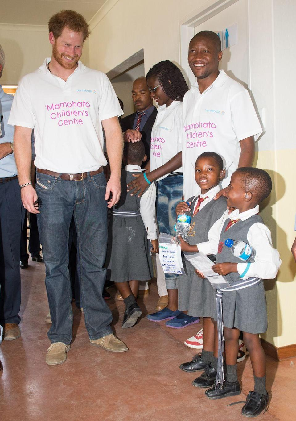 <p>Harry makes many visits to Africa and around the world to make sure his mother's charities stay up and running. The causes most special to her still hold a secure place in his heart.</p>