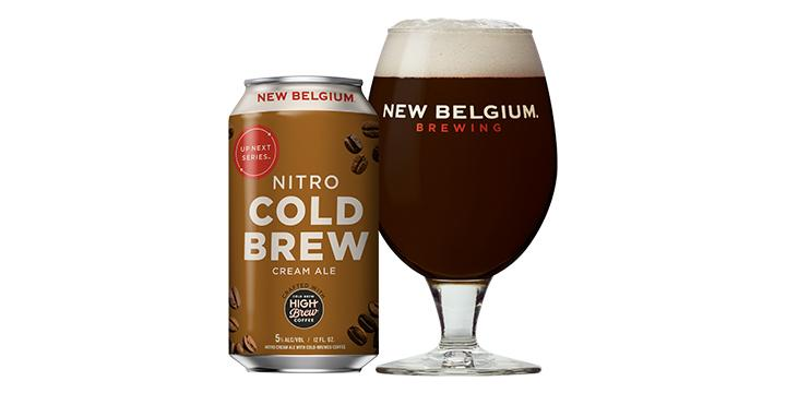 The Nitro Cold Brew Cream Ale has a roasty sweet and smooth coffee, caramel, and vanilla aroma with a refreshing finish.