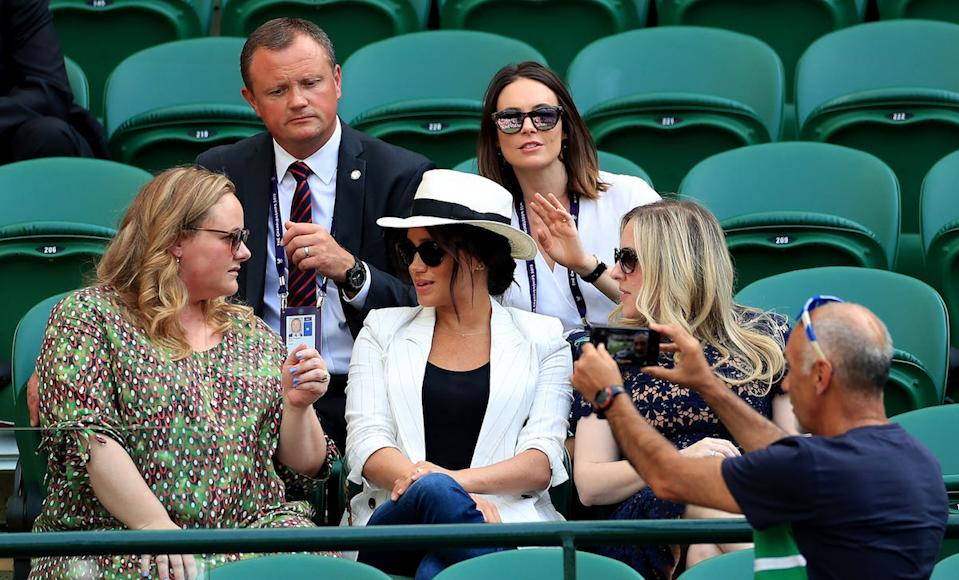 Meghan Markle photo wimbledon