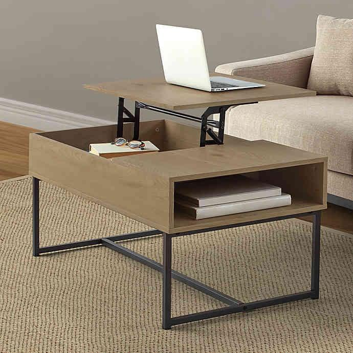 "<p>The <a href=""https://www.popsugar.com/buy/Weybridge-Lift-Top-Coffee-Table-Walnut-478107?p_name=Weybridge%20Lift-Top%20Coffee%20Table%20in%20Walnut&retailer=bedbathandbeyond.com&pid=478107&price=120&evar1=casa%3Aus&evar9=46482928&list1=shopping%2Cfurniture%2Cbed%20bath%20%26%20beyond&prop13=api&pdata=1"" rel=""nofollow"" data-shoppable-link=""1"" target=""_blank"" class=""ga-track"" data-ga-category=""Related"" data-ga-label=""https://www.bedbathandbeyond.com/store/product/weybridge-lift-top-coffee-table-in-walnut/5176055?categoryId=14991"" data-ga-action=""In-Line Links"">Weybridge Lift-Top Coffee Table in Walnut</a> ($120, originally $150) doubles as both a coffee table and a home office.</p>"