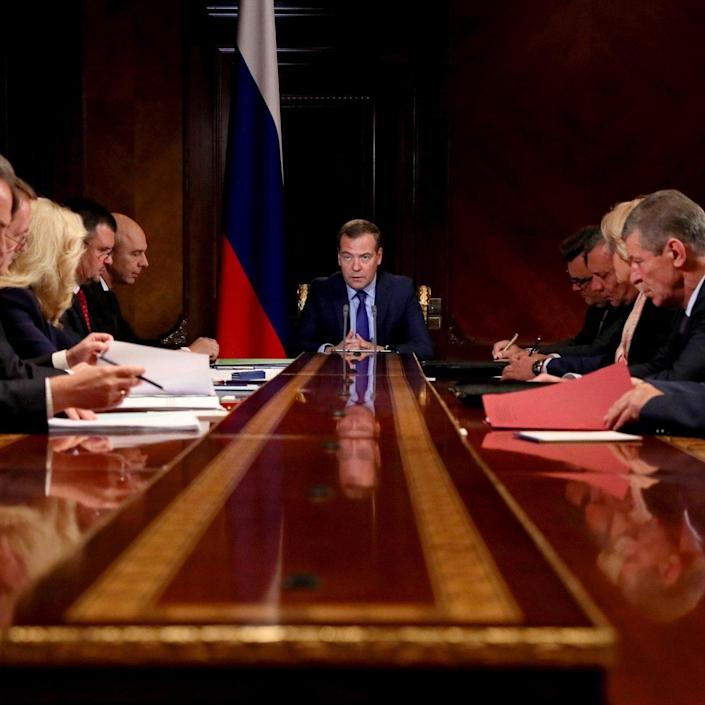 Dmitry Medvedev tells deputy prime ministers that he has signed an order to ratify the accord - TASS