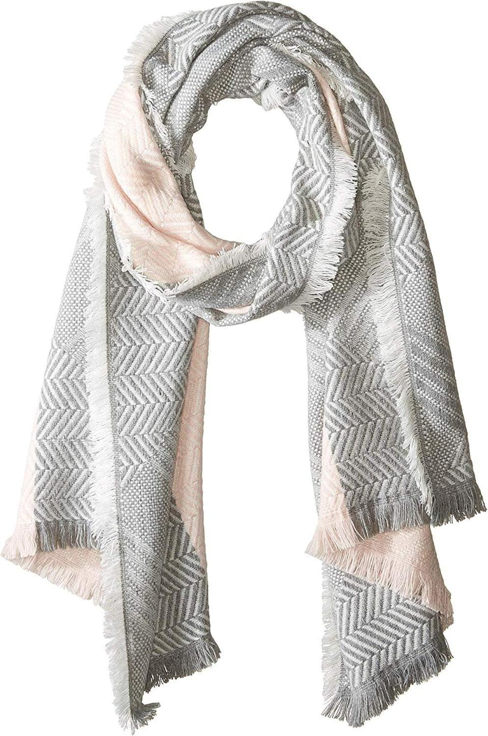 <p>A girl can never have enough accessories, so when in doubt, get her this <span>Rebecca Minkoff Chevron Scarf</span> ($58).</p>
