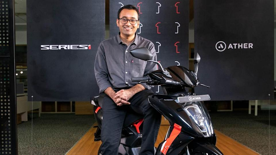 Ather Energy CEO Tarun Mehta says the increase in FAME 2 subsidy will have a substantial impact on electric two-wheeler sales. Image: Ather Energy