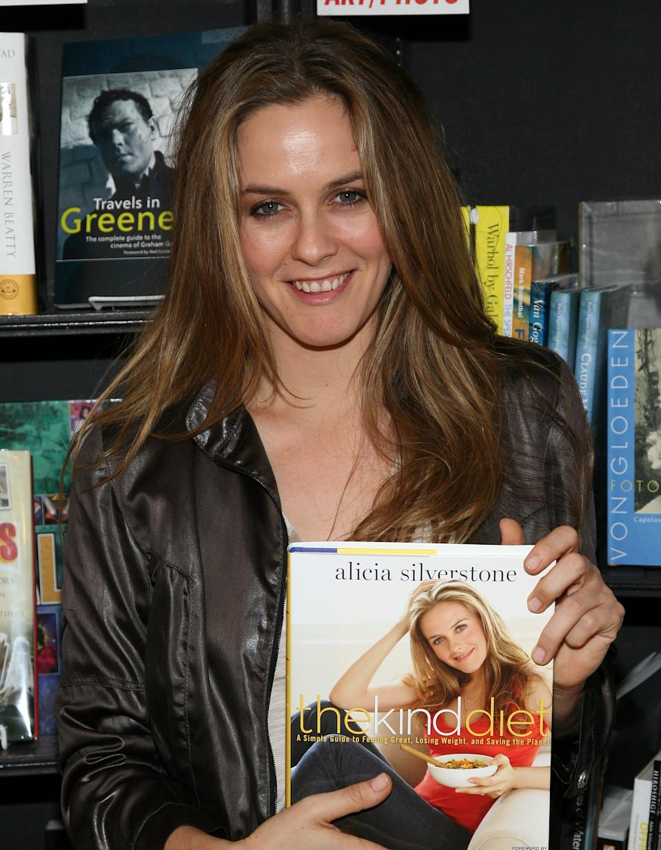 WEST HOLLYWOOD, CA - OCTOBER 15: Actress Alicia Silverstone attends the book signing of her new book 'The Kind Diet: A Simple Guide to Feeling Great, Losing Weight, and Saving the Planet' at Book Soup on October 15, 2009 in West Hollywood, California. (Photo by Angela Weiss/Getty Images)
