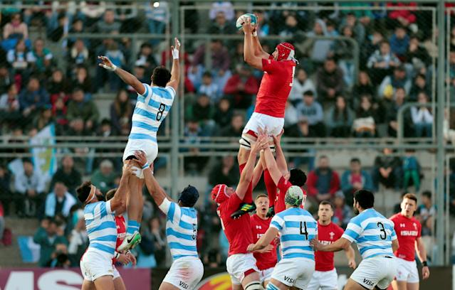 Rugby Union - June Internationals - Argentina v Wales - San Juan del Bicentenario Stadium, San Juan, Argentina - June 9, 2018 - Wales' Cory Hill in action. REUTERS/Diego Lima