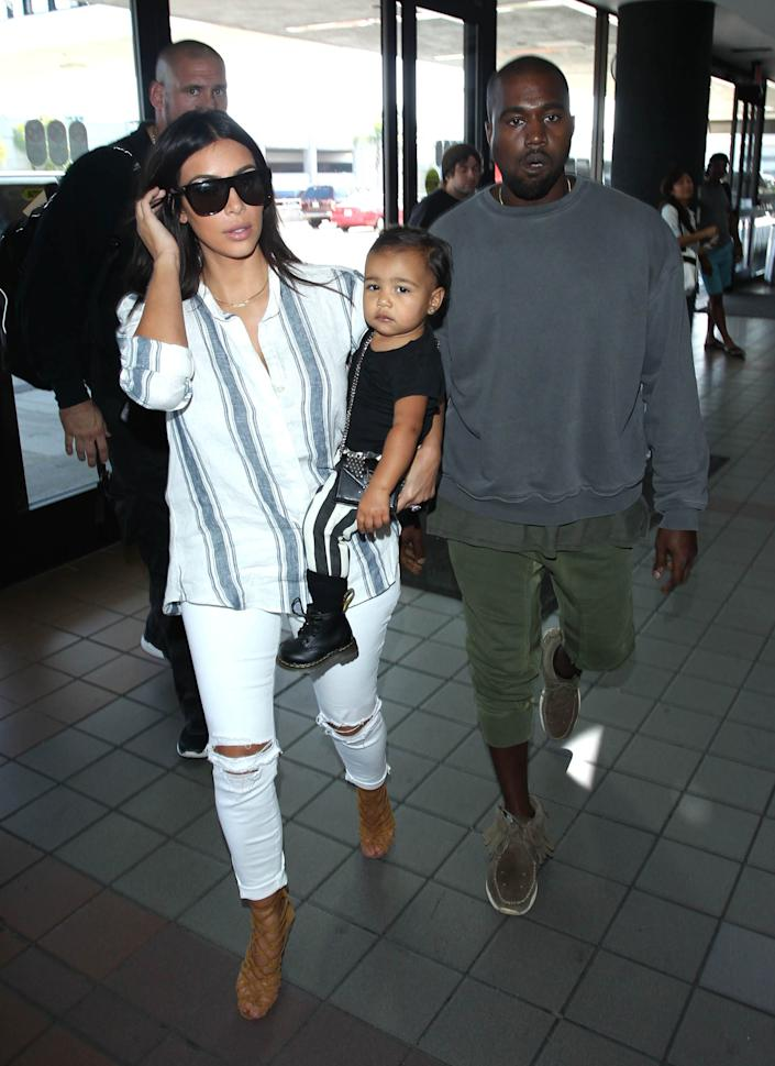 Kim Kardashian West and Kanye West share their daughter North.