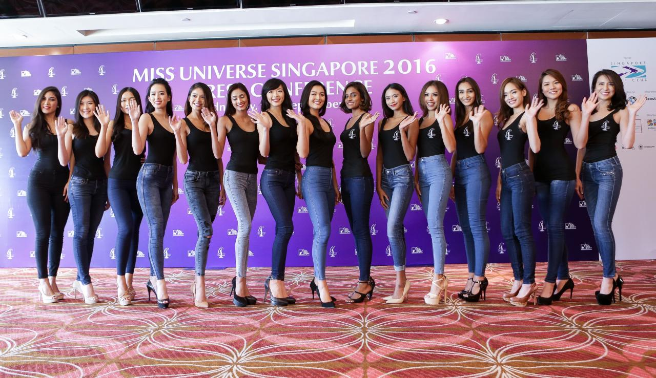 The 15 finalists vying to be crowned Miss Universe Singapore 2016.