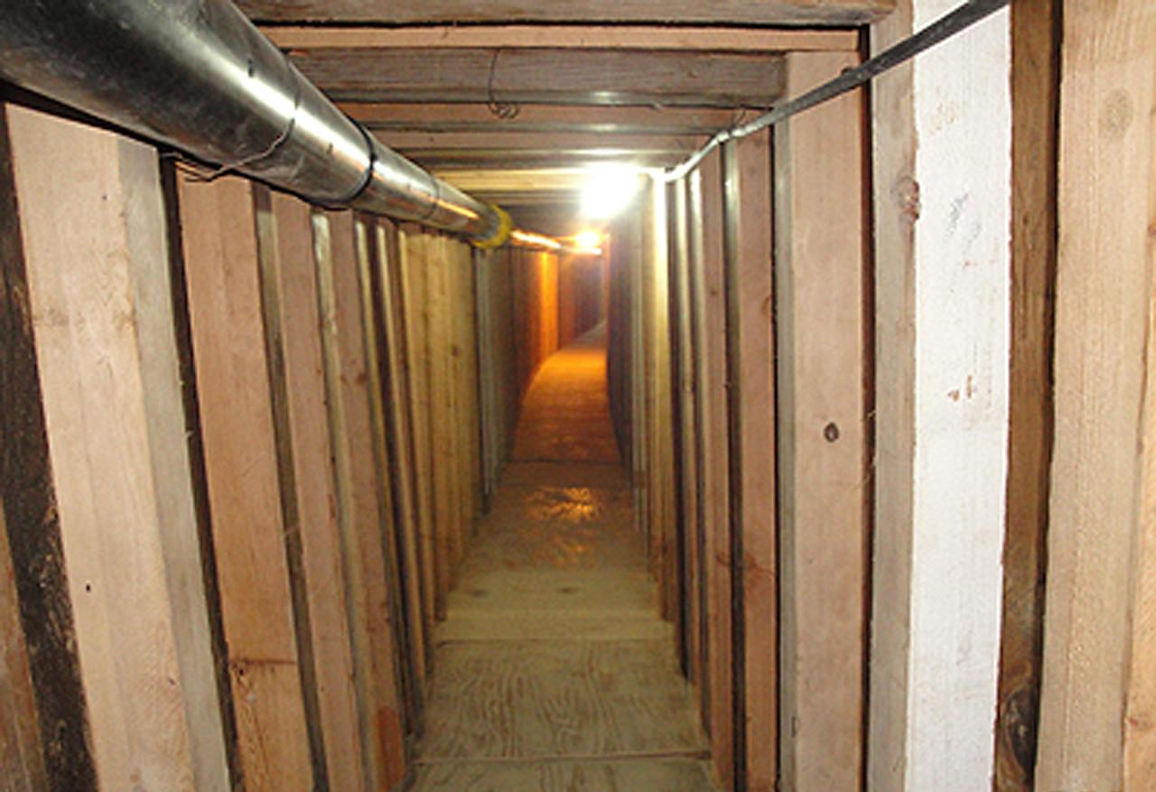 In this undated photo provided by the United States Drug Enforcement Administration, shows a 240-yard, a complete and fully operational tunnel that ran from a small business in Arizona to an ice plant on the Mexico side of the border, Thursday, July 12, 2012, in San Luis, Ariz.(AP Photo/Drug Enforcement Administration)