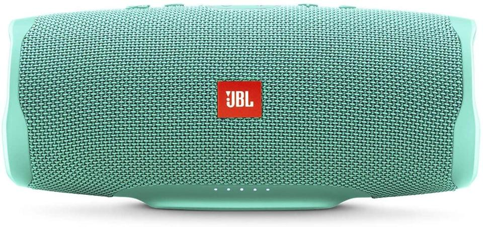 <p>The <span>JBL Charge 4</span> ($180) comes in so many chic colors you can get the whole rainbow! This speaker is waterproof and allows for 20 hours of wireless playtime. It can even serve as a portable charger for her phone!</p>