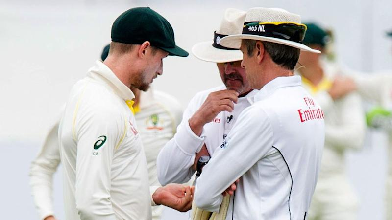 The umpires were initially deceived by Bancroft. Pic: Getty