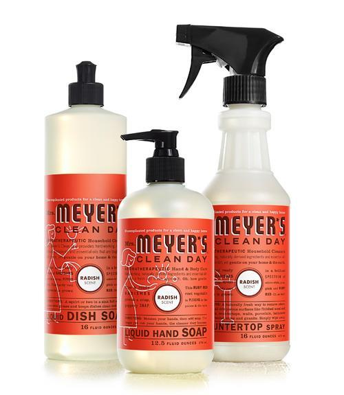 """<div class=""""caption-credit""""> Photo by: Courtesy of Mrs. Meyer's Clean Day</div><div class=""""caption-title"""">Mrs. Meyer's Clean Day</div>Radish may seem like a strange scent for soaps, but this new option from Mrs. Meyer's Clean Day-available in liquid dish soap, countertop spray, all-purpose cleaner, and liquid hand soap-smells garden-fresh. <br> <br> <i>($3.99-$7.99, mrsmeyers.com) <br></i> <br> <b>Plus: <br> <a href=""""http://www.countryliving.com/homes/how-to-clean-white?link=rel&dom=yah_life&src=syn&con=blog_countryliving&mag=clg"""" rel=""""nofollow noopener"""" target=""""_blank"""" data-ylk=""""slk:How to Clean Everything White »"""" class=""""link rapid-noclick-resp"""">How to Clean Everything White »</a> <br> <a href=""""http://www.countryliving.com/antiques/ways-to-declutter-antiques?link=rel&dom=yah_life&src=syn&con=blog_countryliving&mag=clg"""" rel=""""nofollow noopener"""" target=""""_blank"""" data-ylk=""""slk:7 Ways to Declutter Your Antiques Pile »"""" class=""""link rapid-noclick-resp"""">7 Ways to Declutter Your Antiques Pile »</a></b>"""