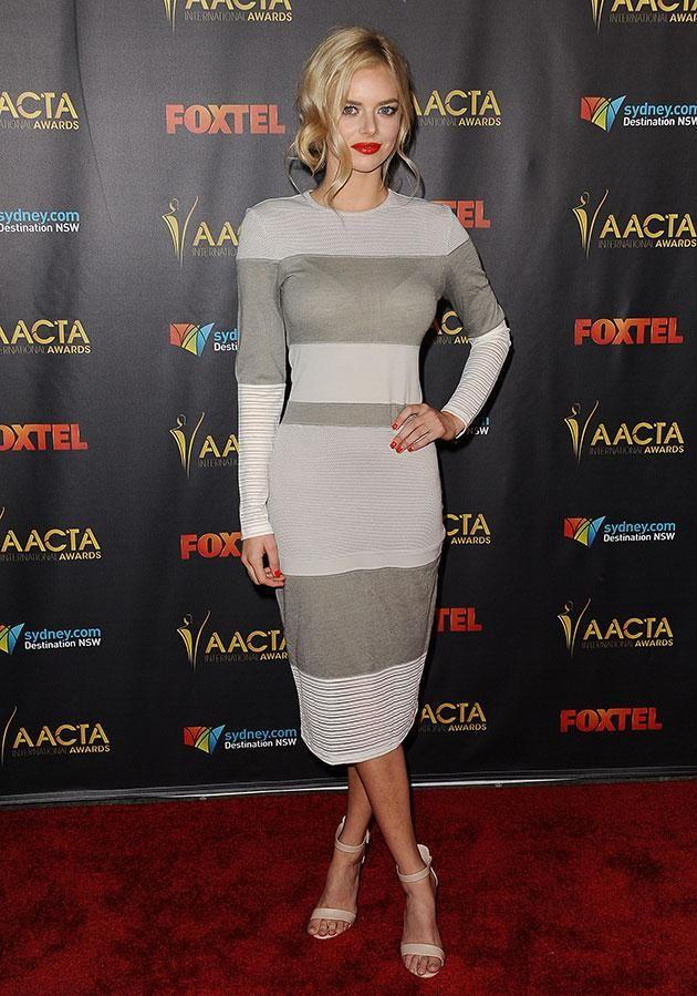 The former Home and Away star is the niece of Aussie actor Hugo Weaving. Source: Getty