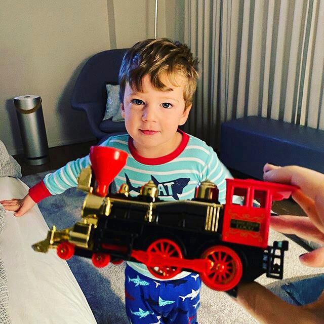 Charley and his toy train