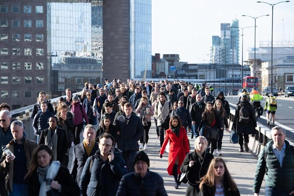 UK worker numbers rebounded above pre-pandemic levels in August (Dominic Lipinski/PA) (PA Wire)