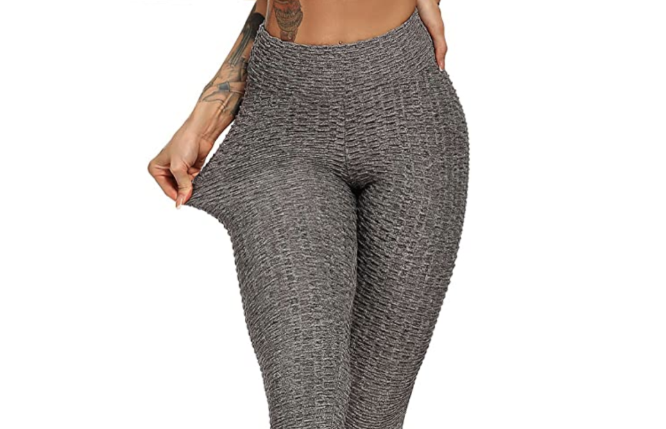 Leggings de cintura alta FITTOO. Foto: amazon.com.mx