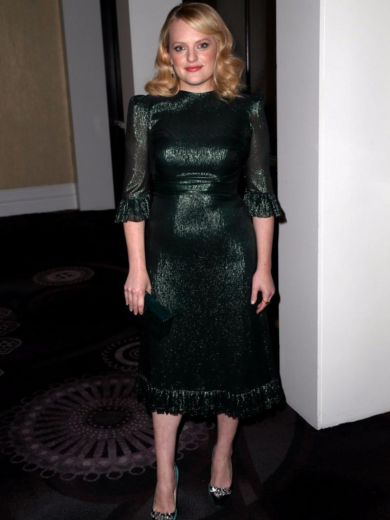 Elisabeth Moss was rumoured to have made a stand against Leah's work against Scientology. Source: Getty