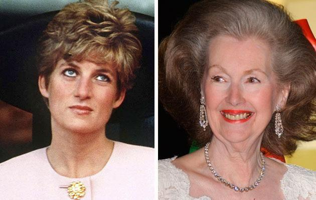 Diana and her step-mum Raine Spence had a rocky relationship. Photo: Getty